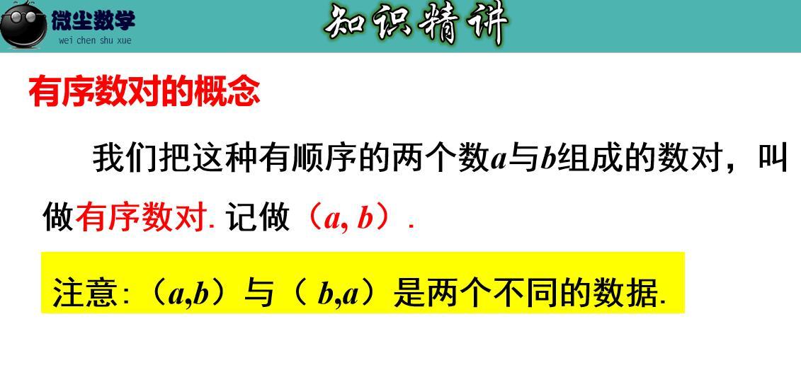 7.1.1(1) 有序数对-七年级数学下册教材配套教学课件(人教版)